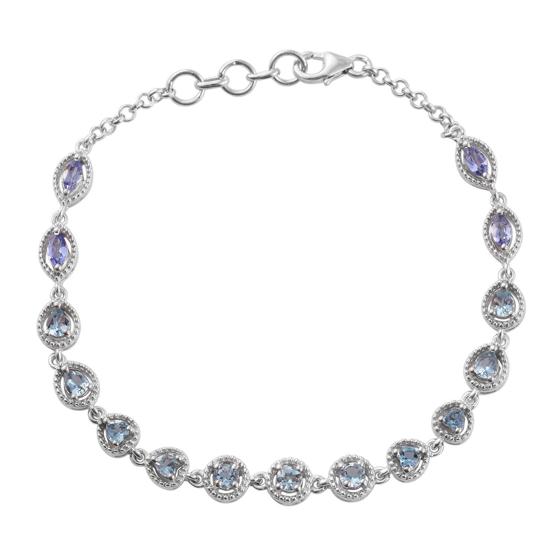 Santa maria aquamarine tanzanite platinum over sterling for Santa maria jewelry company