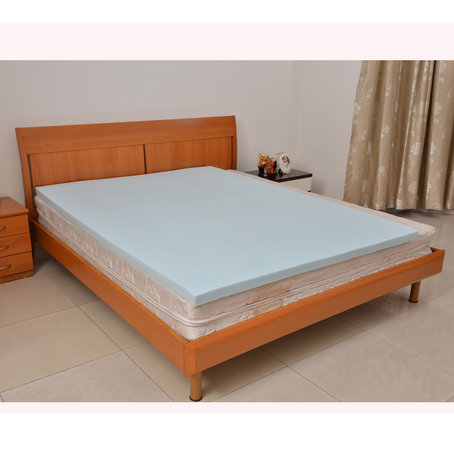 Queen Size Cooling Gelinfused Memory Foam Mattress Topper Queen 59x79x2in Ebay