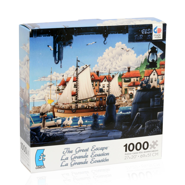 The Great Escape Puzzle 1000 Pieces Gadgets Games