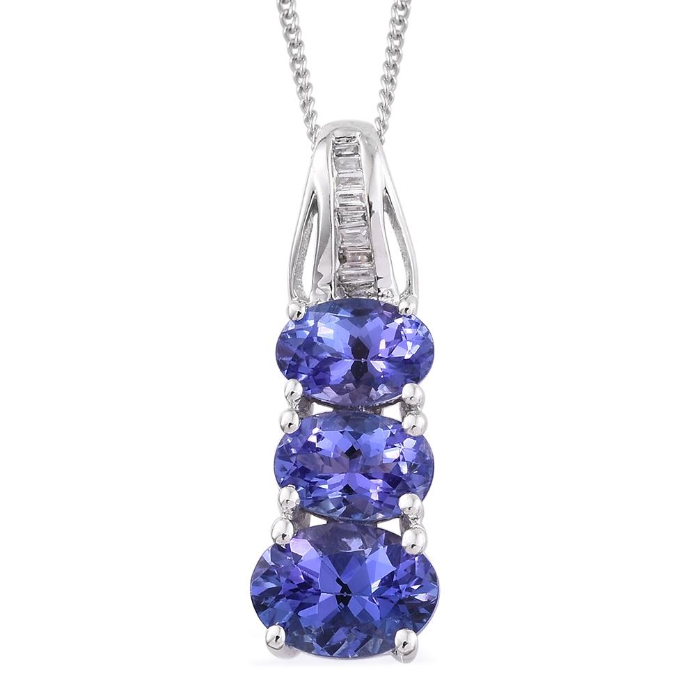 14k wg premium aaa tanzanite accent pendant with
