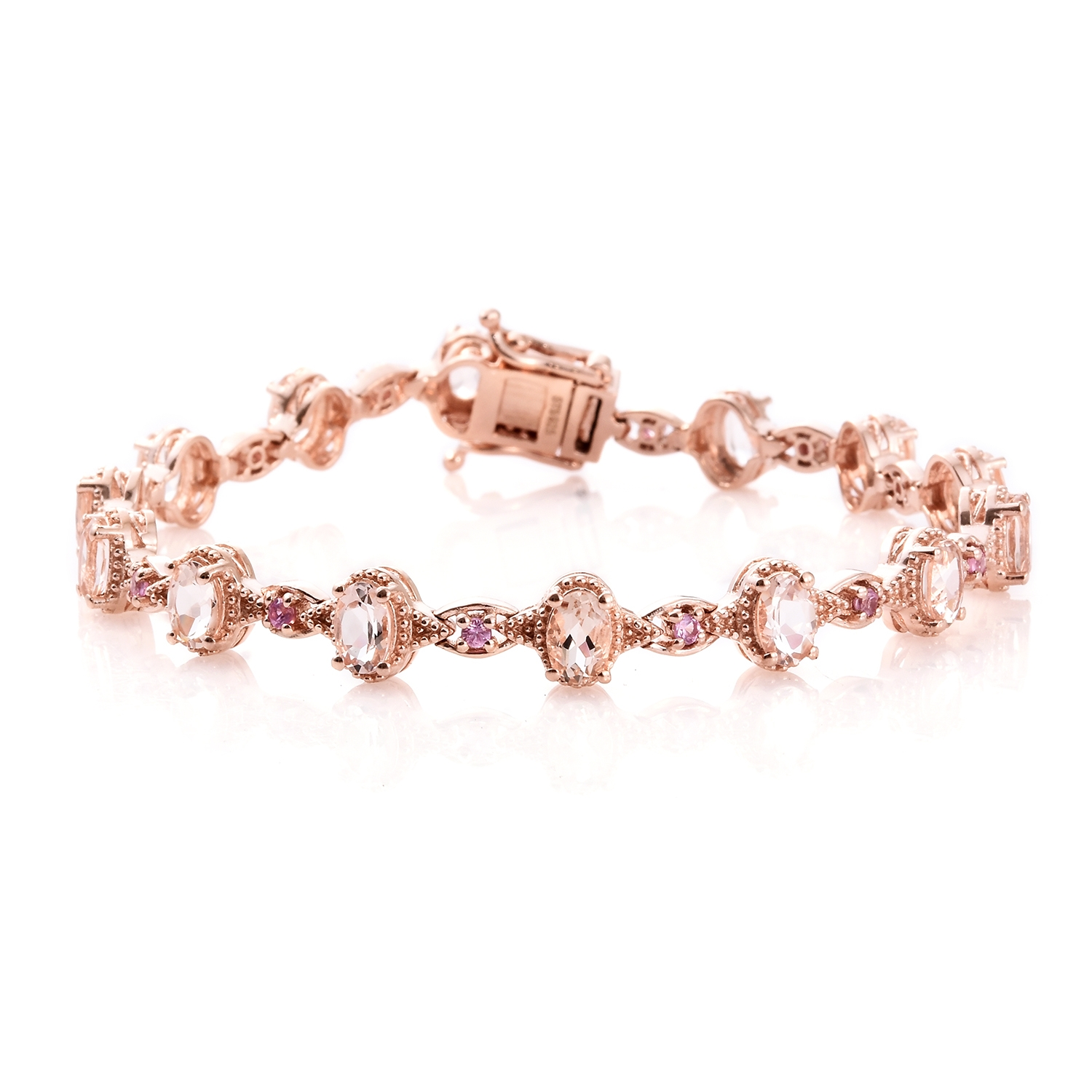 ring bangle link concierge pink products squarelinkpinksapphire sapphire square bracelet
