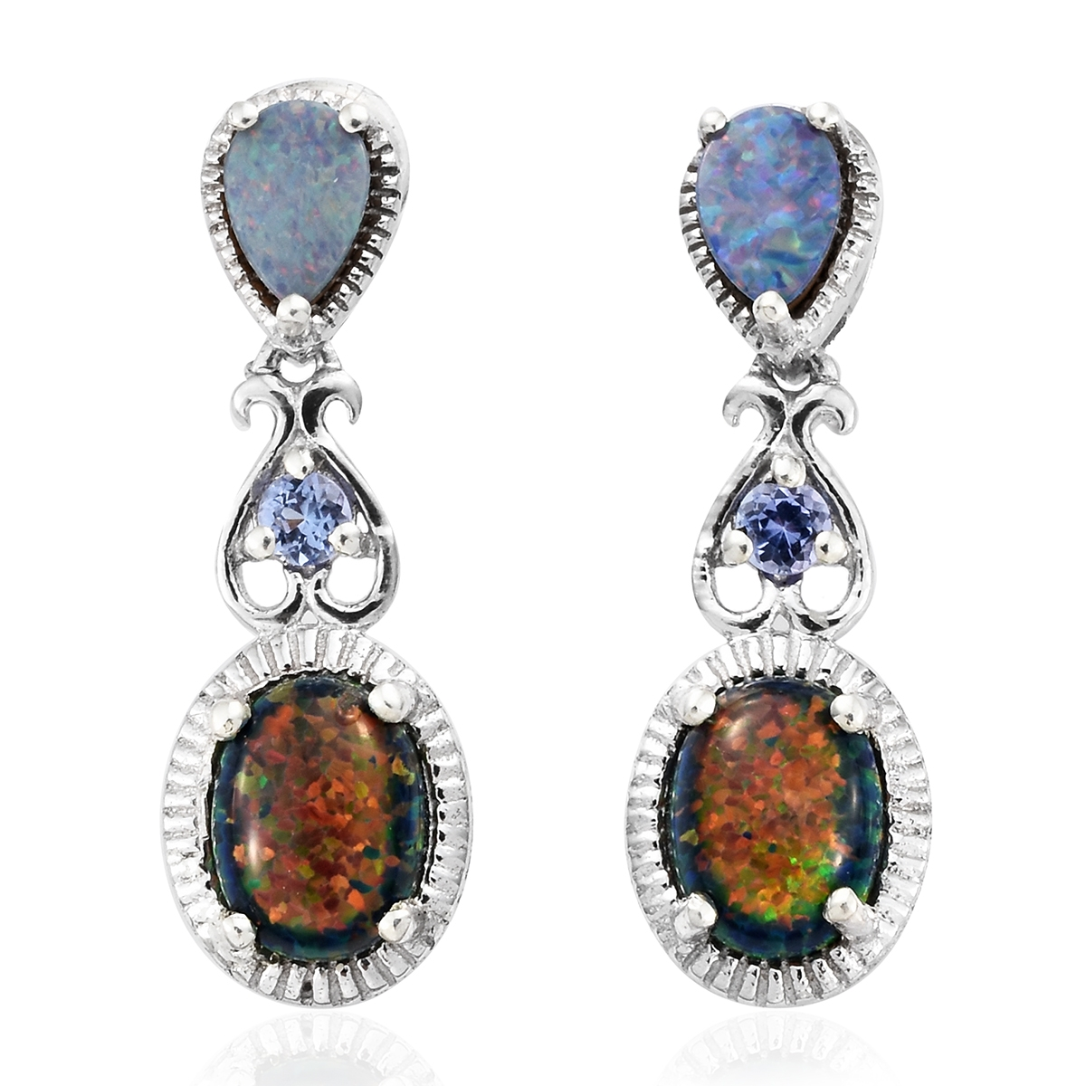Lab created black ridge opal australian boulder opal for Jewelry stores boulder co