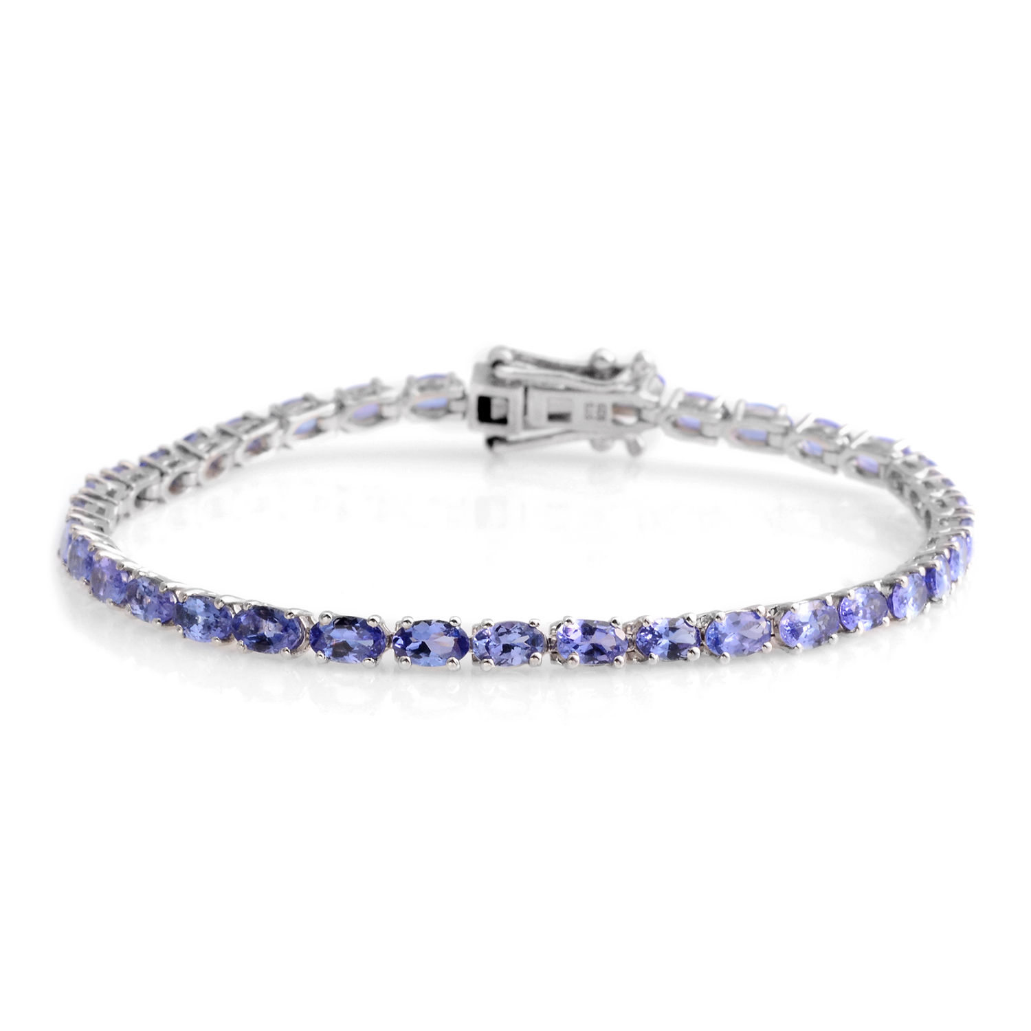 heart silver products sterling tanzanite bracelet niagara