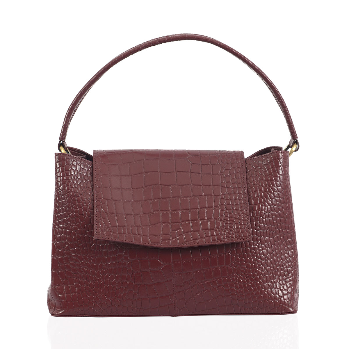 9b657b4bc5 Beverly by Lene Wine Red Genuine Leather Satchel Bag (14.5x7x9.5 in ...