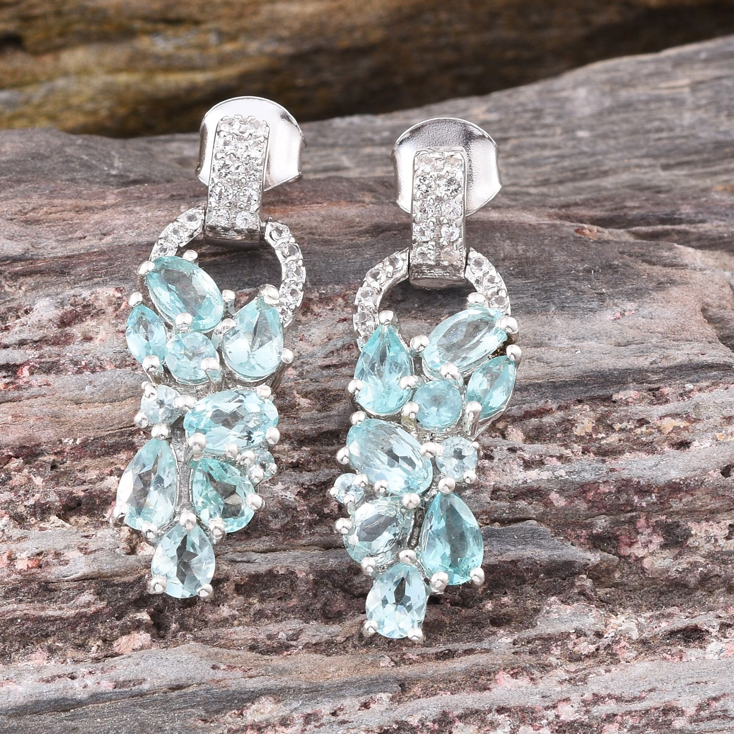 madagascar channel apatite amazonite paraiba earrings russian liquidation affordable pin