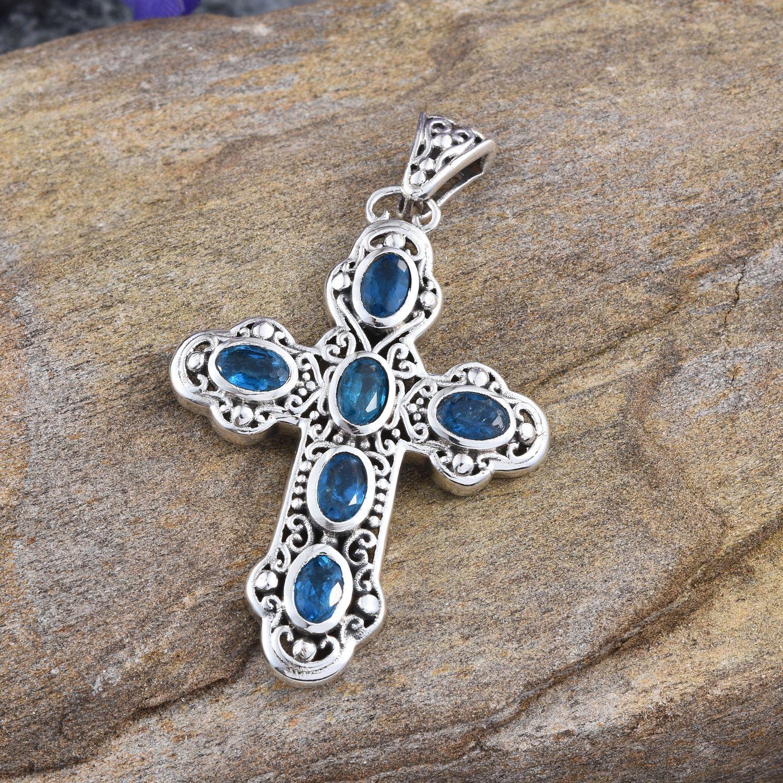 Malgache neon apatite sterling silver cross pendant without chain malgache neon apatite sterling silver cross pendant without chain tgw 385 cts 2479005 mozeypictures Gallery