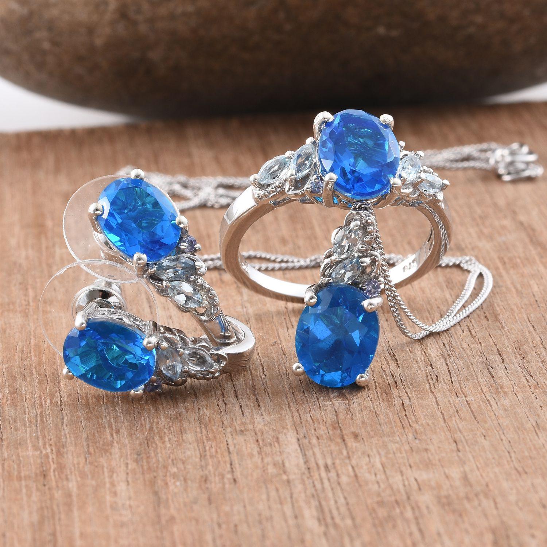 caribbean quartz sky blue topaz tanzanite platinum