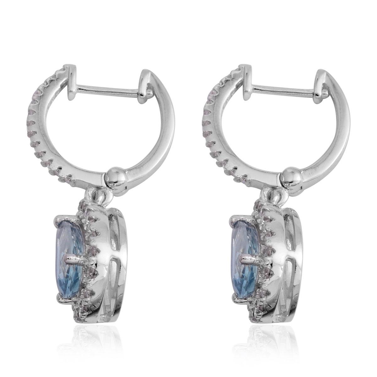 Iliana 18k wg santa maria aquamarine diamond huggie hoop for Santa maria jewelry company
