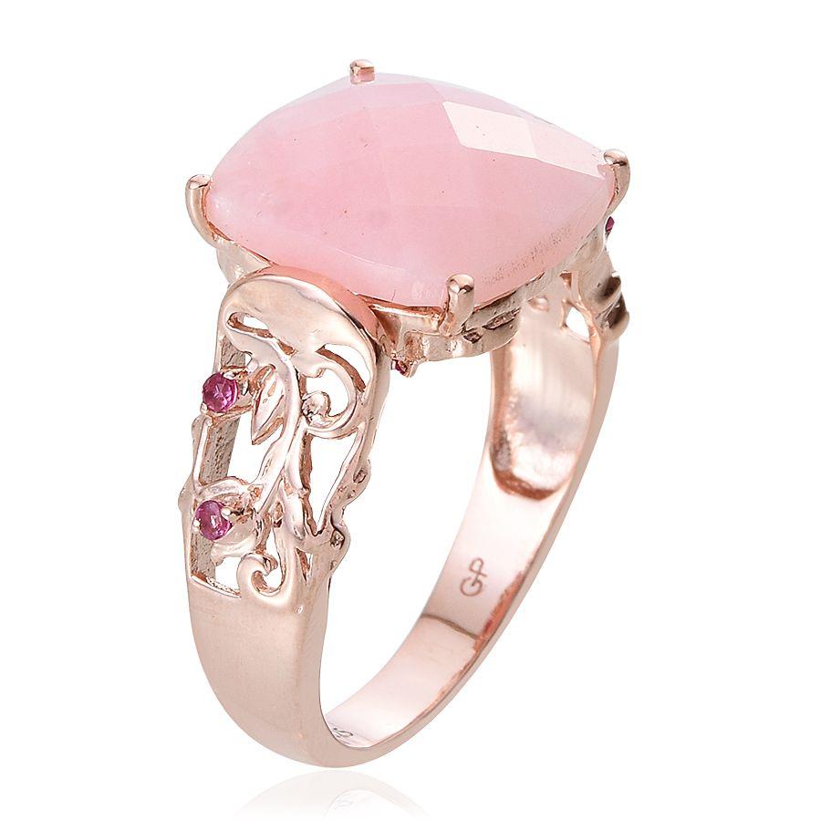 GP Mexican Pink Opal, Ruby, Kanchanaburi Blue Sapphire Sterling ...