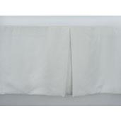 J Francis Hotel Collection Off-White Euro-Weave Bed Skirt Twin