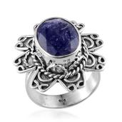 Artisan Crafted Rough Cut Tanzanite Sterling Silver Ring (Size 8.0) TGW 11.000 cts.