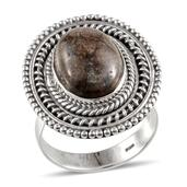 Artisan Crafted Utah Rhyolite Jasper Sterling Silver Ring (Size 8.0) TGW 4.929 cts.
