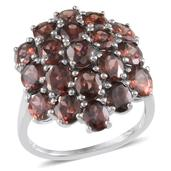 Umba River Zircon Platinum Over Sterling Silver Ring (Size 8.0) TGW 10.250 cts.