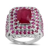 Niassa Ruby, Ruby Sterling Silver Ring (Size 7.0) TGW 6.490 cts.