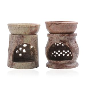 Soapstone Oil Burner Set of 2
