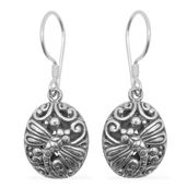 Nicole's Knockout Surprise Bali Legacy Collection Sterling Silver Dragonfly Earrings