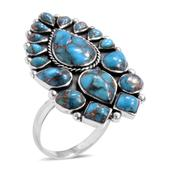 Santa Fe Style Mojave Blue Turquoise Sterling Silver Ring TGW 5.500 cts.
