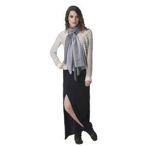 Black and Grey Viscose Scarf (71x28 in)