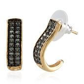 Narsipatnam Alexandrite 14K YG Over Sterling Silver J-Hoop Earrings TGW 1.20 Cts.