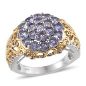 Tanzanite 14K YG and Platinum Over Sterling Silver Ring (Size 8.0) TGW 2.250 cts.