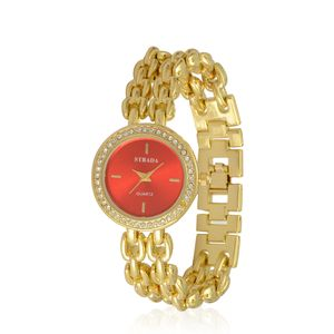 STRADA Austrian Crystal Japanese Movement Watch in ION Plated YG Stainless Steel
