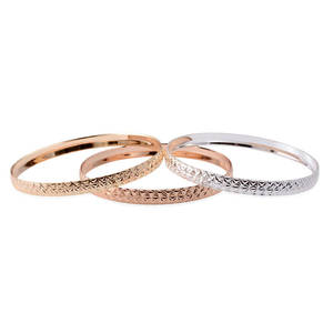 Set of 3 Multitone Bangles (7 in)