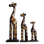 Decorative Wooden Set of 3 Giraffes (16, 12, 8 in)