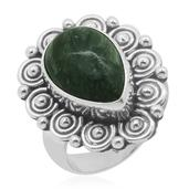 Bali Legacy Collection Siberian Seraphinite Sterling Silver Ring (Size 8.0) TGW 5.000 cts.