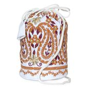 White Embroidered Crossbody Bag (8x5 in)