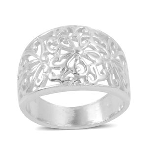 Sterling Silver Openwork Ring (Size 5.0)