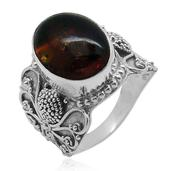 Bali Legacy Collection Baltic Amber Sterling Silver Ring (Size 8.0) TGW 3.480 cts.