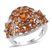 Santa Ana Madeira Citrine 14K YG and Platinum Over Sterling Silver Ring (Size 5.0) TGW 3.39 cts.