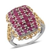 Niassa Ruby 14K YG and Platinum Over Sterling Silver Fancy Filigree Ring (Size 9.0) TGW 4.720 cts.