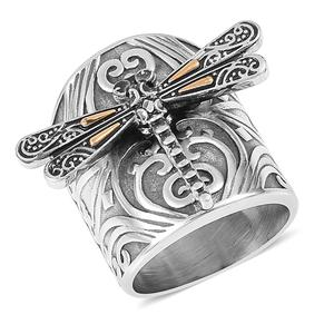 Stainless Steel Dragonfly Ring (Size 7.0)