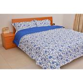 Blue and White Down Alternative 3 Pc Comforter Set (King)