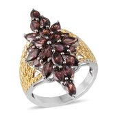 Umba River Zircon 14K YG and Platinum Over Sterling Silver Ring (Size 6.0) TGW 7.350 cts.