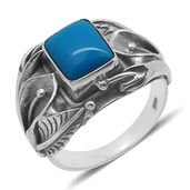 Bali Legacy Collection Arizona Sleeping Beauty Turquoise Sterling Silver Ring (Size 7.0) TGW 2.460 cts.