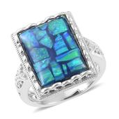 Simulated Opal Sterling Silver Ring (Size 10.0) TGW 4.100 cts.