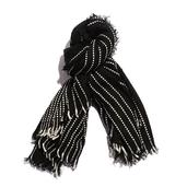 Black and White 100% Acrylic Scarf (58x62 in)