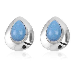 Santa Fe Style Denim Lapis Lazuli Sterling Silver Earrings TGW 4.500 cts.