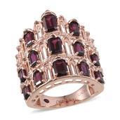 Royal Jaipur Orissa Rhodolite Garnet (Oct), Ruby Ring in 14K RG Overlay Sterling Silver Nickel Free (Size 8.0) TGW 6.080 cts.