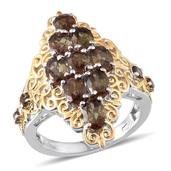 Jenipapo Andalusite 14K YG and Platinum Over Sterling Silver Ring (Size 6.0) Cts TGW 4.280 cts.