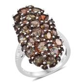 Jenipapo Andalusite Platinum Over Sterling Silver Ring (Size 8.0) TGW 8.400 cts.