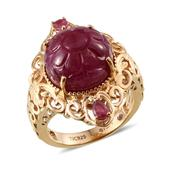 Stefy Niassa Ruby, Madagascar Pink Sapphire Platinum Over Sterling Silver Ring (Size 6.0) TGW 13.93 cts.