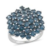 Teal Kyanite Platinum Over Sterling Silver Ring (Size 6.0) TGW 8.500 cts.
