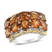 Santa Ana Madeira Citrine 14K YG and Platinum Over Sterling Silver Ring (Size 7) TGW 7.600 cts.