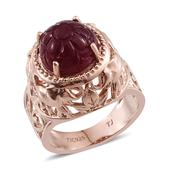 Tribal Collection of India Niassa Ruby 14K RG Over Sterling Silver Openwork Ring (Size 7.0) TGW 10.000 cts.