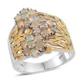 Ethiopian Welo Opal 14K YG and Platinum Over Sterling Silver Ring (Size 11.0) TGW 2.000 cts.