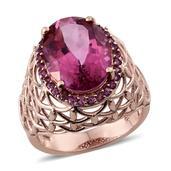 Pure Pink Mystic Topaz, Orissa Rhodolite Garnet 14K RG Over Sterling Silver Ring (Size 7.0) TGW 11.500 cts.