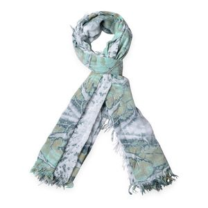 Green 70% Viscose and 30% Polyester Scarf (67x33 in)